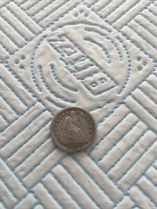 1843 Silver Half Dime Coin
