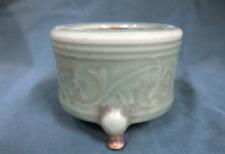 Chinese Old Ming Longquan Celadon Incense Burner / W 9.7[cm]