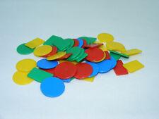 Lot de 47 jetons plastiques 4 couleur jeu cartes Belote Tarot Nain Jaune vinatge