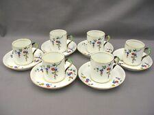 Un superbo set di sei dipinti a mano smaltato TOSCANO LATTINE DI CAFFè & Piattini