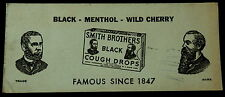 Blotter SMITH BROTHERS BLACK - MENTHOL - WILD CHERRY COUGH DROPS