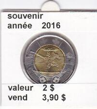 C 1 )pieces de 2 $ souvenir 2016