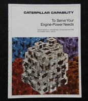 """1970 """"CATERPILLAR CAPABILITY TO SERVE YOUR ENGINE POWER NEEDS"""" RESEARCH BROCHURE"""