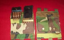 RIFLE buttstock pouch / nagant/ mauser/ ENFIELD/ WOODLAND CAMO / REENACTOR/ XMAS