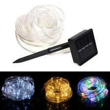 23ft 50 LED Solar Power Rope Tube Lights Strip Waterproof Outdoor Part AC AC