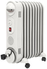 Prem-I-Air 2kW 9 Fin Portable Oil Filled Radiator Heater with Thermostat - White