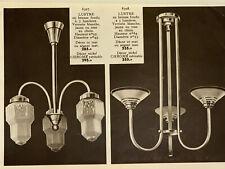 Catalogue MARRON luminaire ART DECO lustre lampe applique meuble Degué Muller