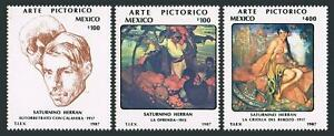 Mexico 1488-1490,MNH.Michel 2027-2029. Paintings by Saturnino Herran,1987.