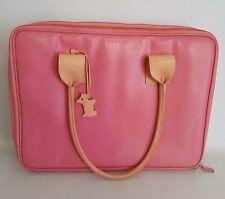 Pink Leather RADLEY LAPTOP BAG Business Briefcase LOTS OF COMPATMENTS Pockets