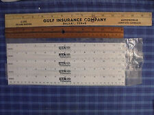 RULER LOT 1947 GULF INSURANCE COMPANY DALLAS TEXAS TX TEX & 6 OTHER MISC RULERS