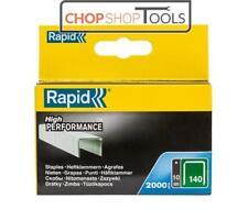 Rapid R34 /140  Series Staples (Flatwire) Galvanised Steel 10mm 2000 Pack 140/10