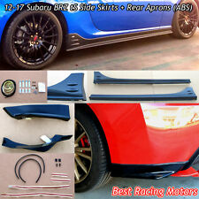STi tS Style Side Skirts + Rear Aprons (ABS) Fit 12-17 Subaru BRZ