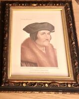 Vintage Turner Wall Art: In His Majesty's Collection Lithograph by Hans Holbien
