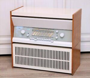 RESTORED! BRAUN ATELIER 11 + L1 SPEAKER BOX PHONO TUBE RADIO RECORD PLAYER RAMS