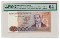 BRAZIL banknote 50.000 Cruzeiros 1985. PMG MS-64