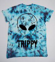Trippy Alien Tie Dye T Shirt UNISEX Festival Grunge Metal Emo Hipster Summer 420