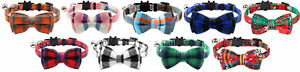Cat / Kitten Collar with Bell & Bow Tie Quick Release Safety Buckle Cats Collars