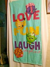 "NWOT Shopkins Beach Towel 28"" X 58"""