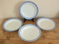 lot 4 assiettes anciennes en porcelaine Tournai ou Arras décor Ronda