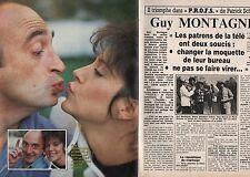Coupure de presse Clipping 1985 Guy Montagné   (2 pages)