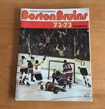 Boston Bruins 1972-73 NHL Hockey Yearbook Bobby Orr Phil Esposito