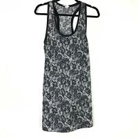 Joie Womens Top Size Medium White Black Floral Print Scoop Neck Sleeveless Tank