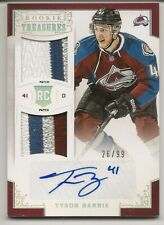 2012/13 Panini Rookie Treasures Tyson Barrie Rookie RC Auto Patch /99! 4CLR!