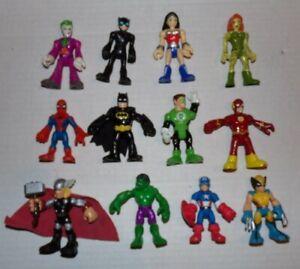 """12 Imaginext DC Super Friends Lot Batman Wonder Woman Thor  3"""" Figures LOT 6"""