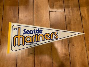 """1980'S VINTAGE SEATTLE MARINERS BASEBALL PENNANT 30"""""""