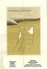 Ausstellungsplakat, Andreas Bindl, Galerie Studio Orny, München, 1974