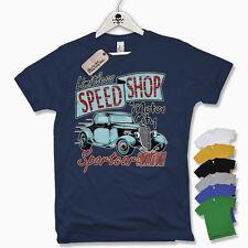 Camiseta T-Shirt TIENDA DE LA VELOCIDAD Hot Rod Muscle Car V8 Oldschool Retro