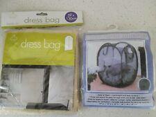 BN Storage Dress Bag & White Mesh Foldable Laundry Basket