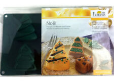 Birkmann Noel 6 Christmas Tree Silicone Molds For Baking Or Freezing Cake Jello