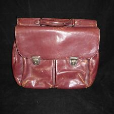 El Portal Soft Leather Messenger Briefcase Distressed Bag