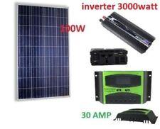 Kit Fotovoltaico 1 Kw Giornaliero Pwm Inverter 3000w Isola Solare Pannello 100 W