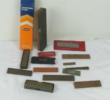 LOT OF 13 VINTAGE SHARPENING OIL STONES NEW NORTON + OTHERS