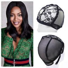 Wig Cap for Wigs Making Weave Elastic Hair Snood Net Mesh Adjustable Straps
