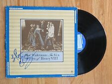 RICK WAKEMAN of YES signed THE SIX WIVES OF HENRY VIII 1973 QUADRAPHONIC Record