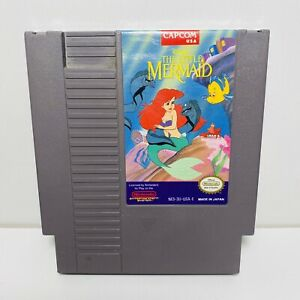THE LITTLE MERMAID -- NES Nintendo Original Classic Authentic Disney Game