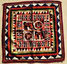 """22"""" x 22"""" Vintage Rabari Throw Embroidery Ethnic Tapestry Tribal Wall Hanging"""