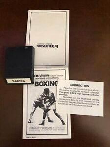Boxing from Intellivision Inc no box (white label cart) errata for no overlays
