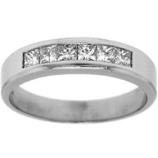 .78ctw HIS PRINCESS DIAMOND WEDDING BAND 14K WHITE GOLD