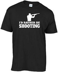 Clay pigeon shooting,skeet, hunt - I'd rather be shooting t-shirt
