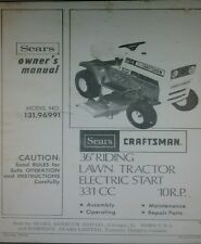 Sears Craftsman LT 10 Lawn Tractor & 36 Mower Owner & Parts Manual 131.96991