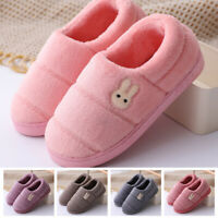 Womens Mens Winter Warm Plush Lined Slippers Fluffy Indoor House Fleece Shoes