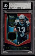 KELVIN BENJAMIN 66/99 BGS 9 10 ROOKIE PRIZMS ORANGE JERSEY PATCH RC 2014 SELECT