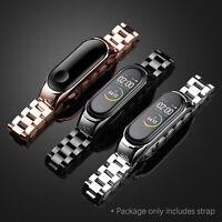 Luxury Stainless Steel Link Band Watch Strap Bracelet for Xiaomi Mi Band 5 Mi 5