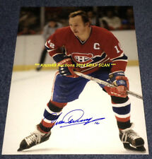 YVAN COURNOYER In ACTION Auto SIGNED 11x14 Photo MONTREAL CANADIENS HOF GREAT~@@
