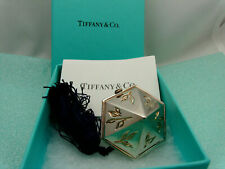 Tiffany Co Bamboo Pill Box Case Gold Wash Oriental Japanese Sterling Silver Rare