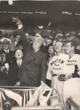 FRANKLIN D ROOSEVELT Throws Out First Pitch With JOE CRONIN & BUCKY HARRIS 1942